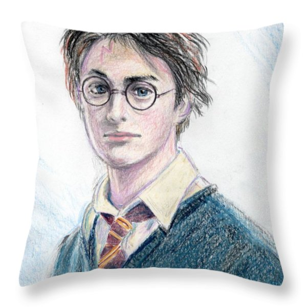 Harry Potter - Daniel Radcliffe Throw Pillow by Yoshiko Mishina