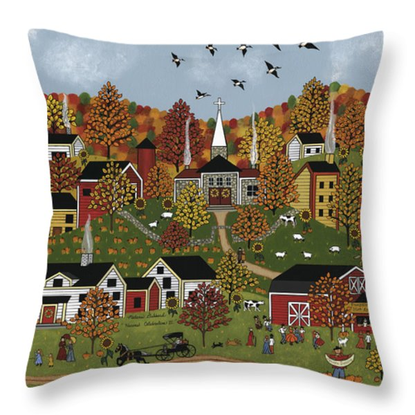 Harvest Celebration II Throw Pillow by Medana Gabbard