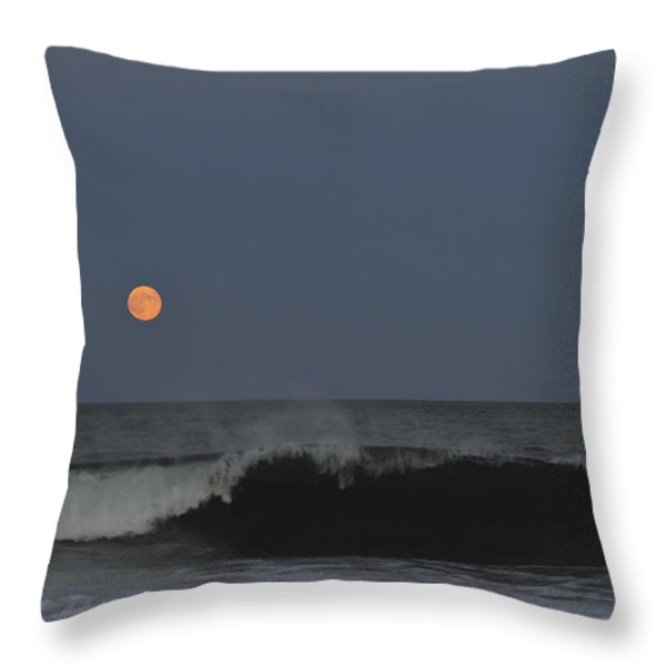 Harvest Moon Seaside Park NJ Throw Pillow by Terry DeLuco