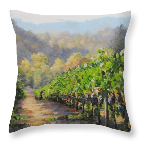 Harvest Morning Throw Pillow by Karen Ilari
