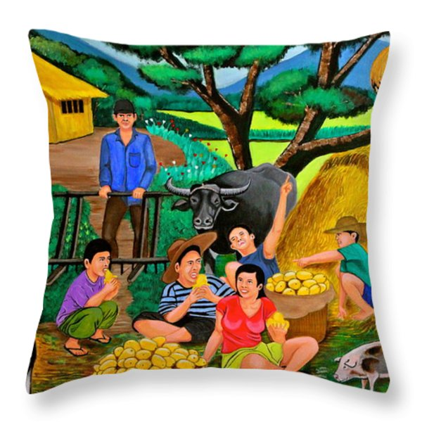 Harvest Time Throw Pillow by Cyril Maza
