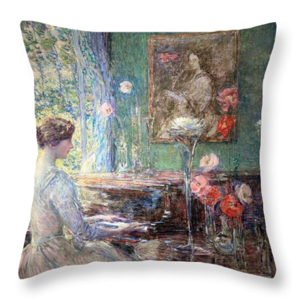 Hassam's Improvisation Throw Pillow by Cora Wandel