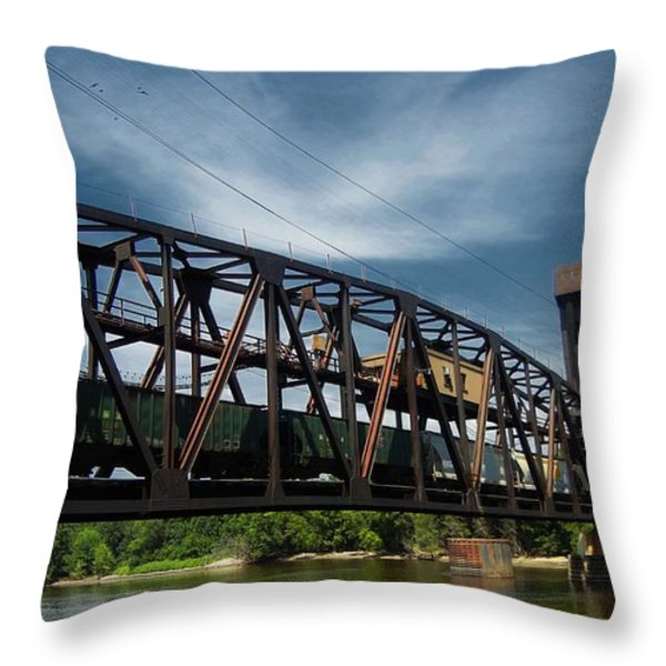 Hastings Train Bridge 3 Throw Pillow by Todd and candice Dailey