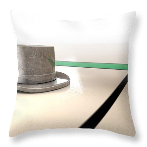 Hat Monopoly Throw Pillow by Allan Swart