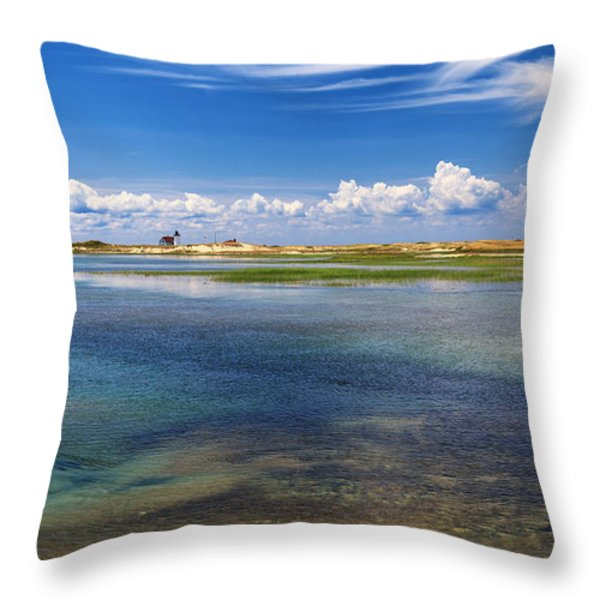 Hatches Harbor Throw Pillow by Bill  Wakeley