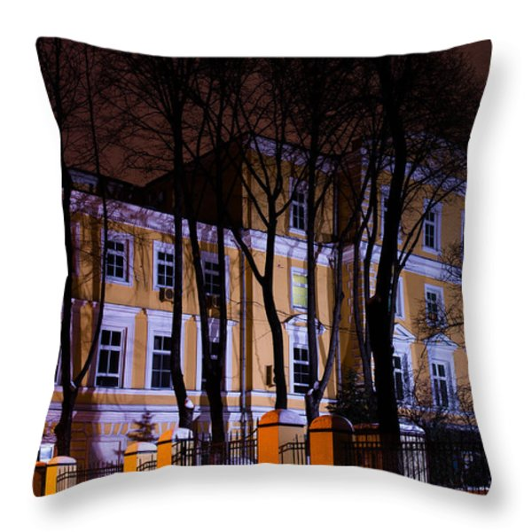 Haunted House Throw Pillow by Alexander Senin