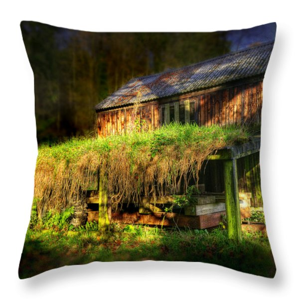 Haunted House Throw Pillow by Svetlana Sewell