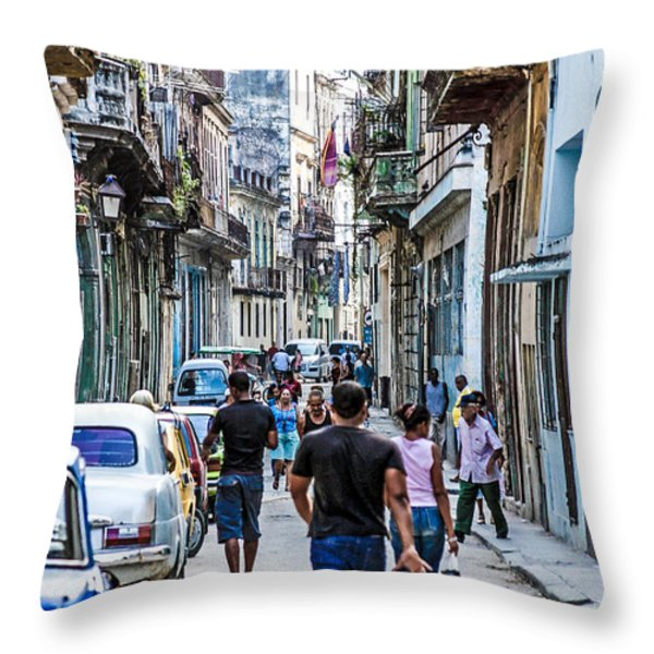Havana Street II Throw Pillow by Jim Nelson
