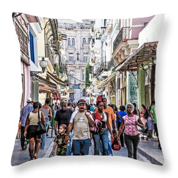 Havana Street V Throw Pillow by Jim Nelson