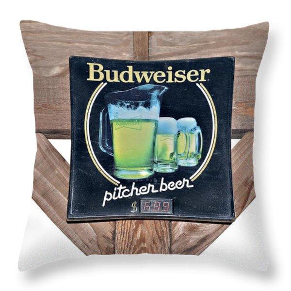 Have a Bud Throw Pillow by Susan Leggett