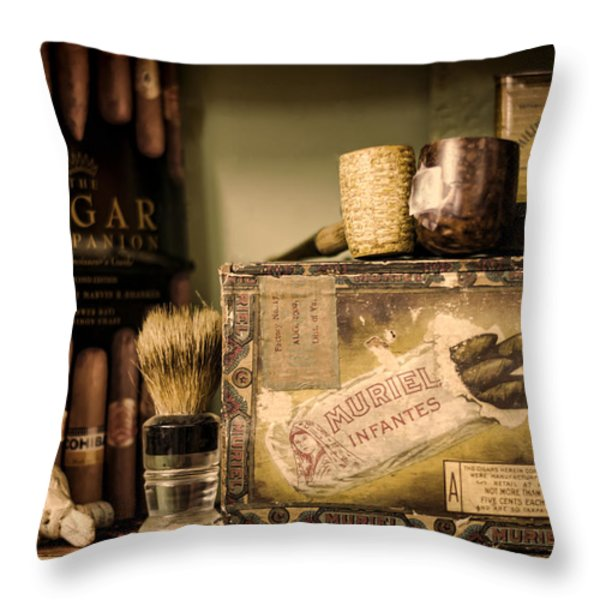 Have a Cigar Throw Pillow by Heather Applegate