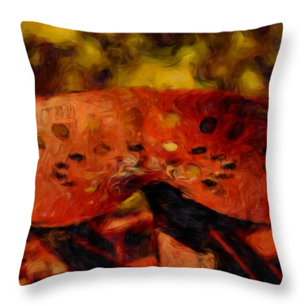 Have A Seat Throw Pillow by Jack Zulli