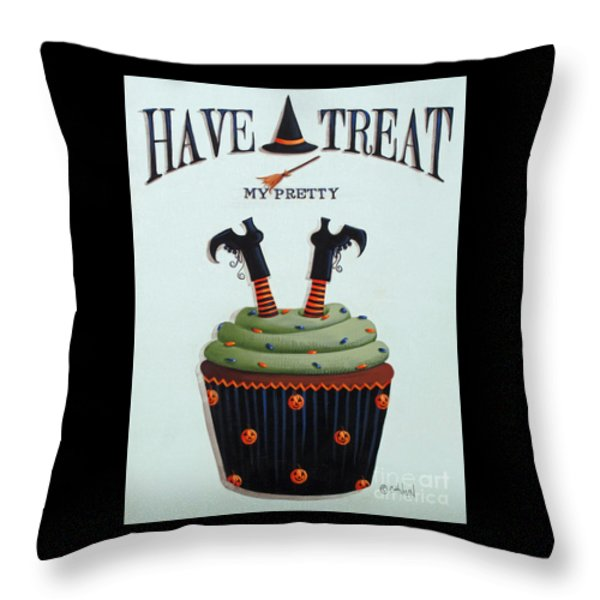 Have A Treat My Pretty Throw Pillow by Catherine Holman