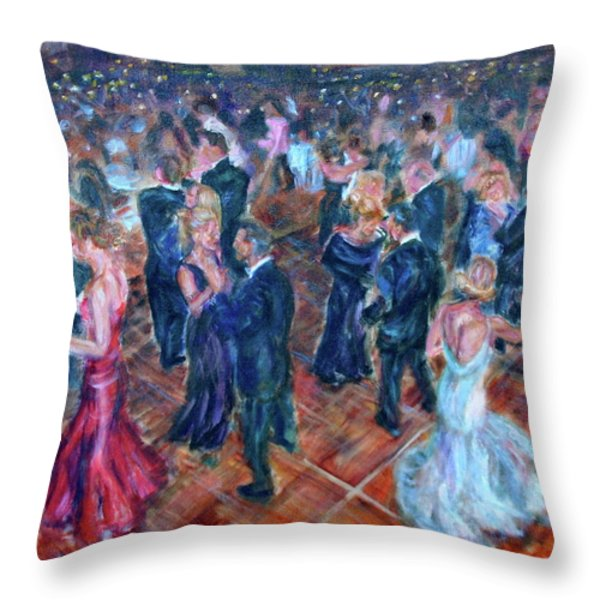 Having A Ball - Dancers Throw Pillow by Quin Sweetman