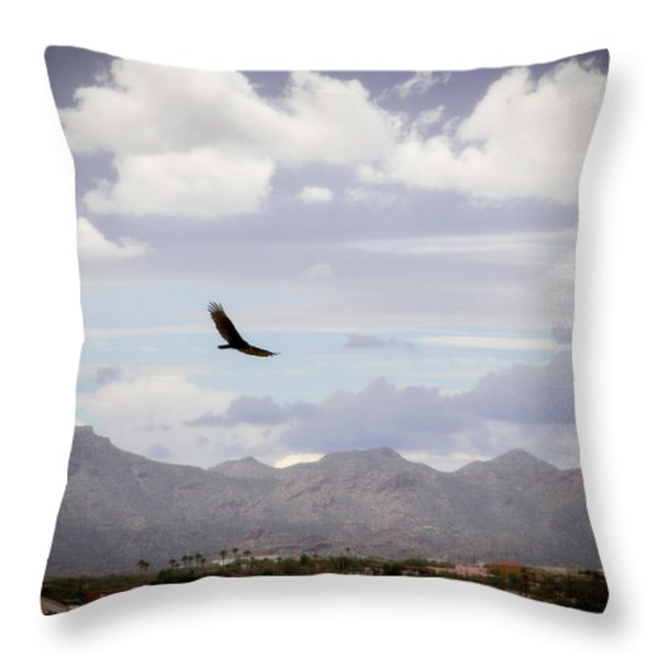 Hawk - 2013-242 Throw Pillow by Judi FitzPatrick