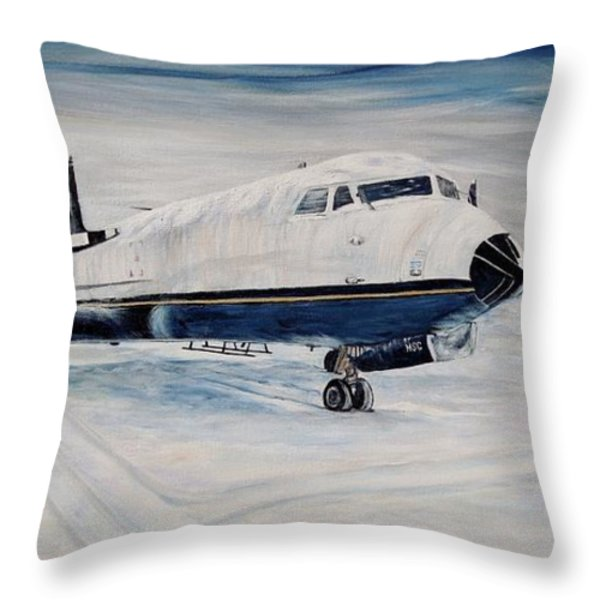 Hawker - Waiting Out The Storm Throw Pillow by Marilyn  McNish