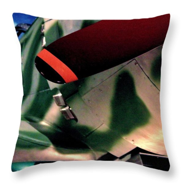 Hayabusa Throw Pillow by Benjamin Yeager