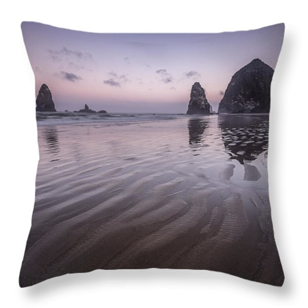 Haystack Glow Throw Pillow by Jon Glaser
