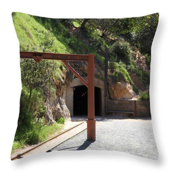 Hazel Atlas Mine At The Black Diamond Mines Regional Preserve 5d22307 Throw Pillow by Wingsdomain Art and Photography