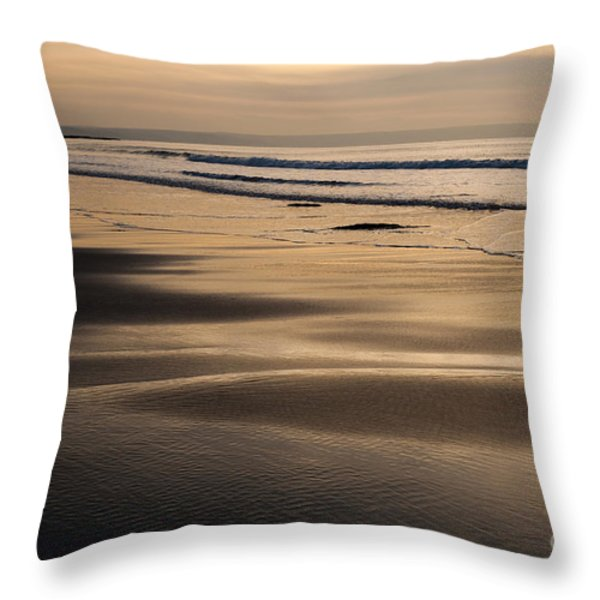 Hazy Croyde Throw Pillow by Anne Gilbert