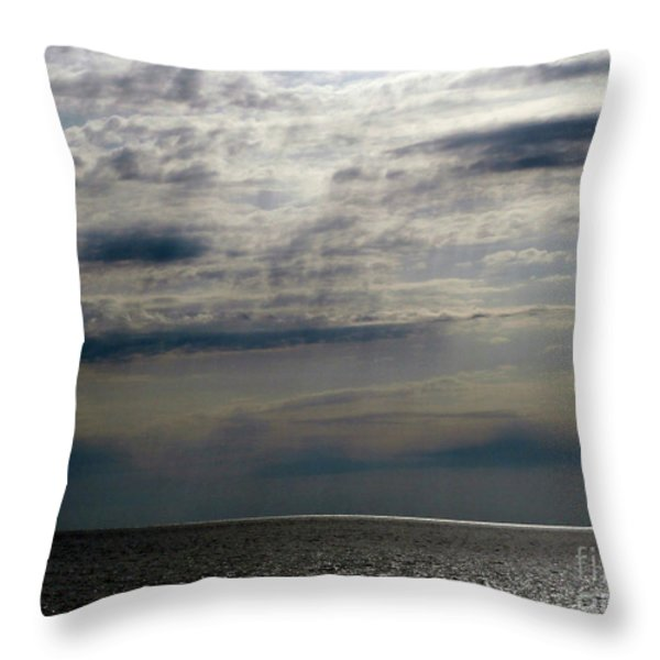 Hdr Storm Over The Water  Throw Pillow by Joseph Baril