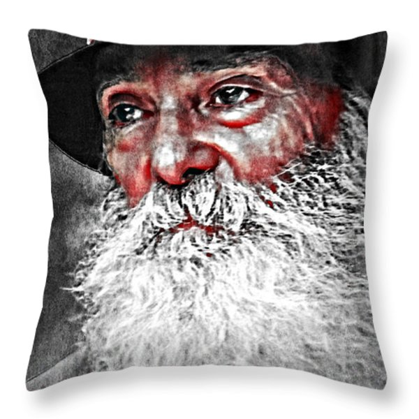 He Does Exist Throw Pillow by M and L Creations