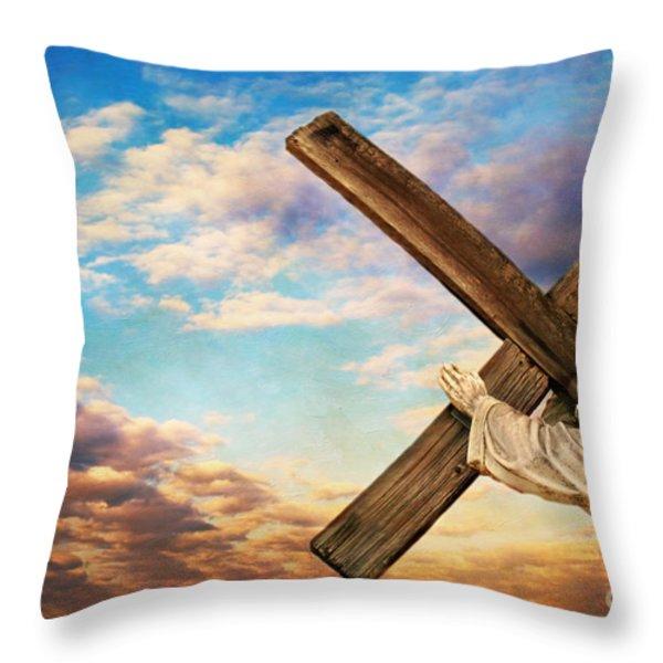 He has Risen Throw Pillow by Darren Fisher