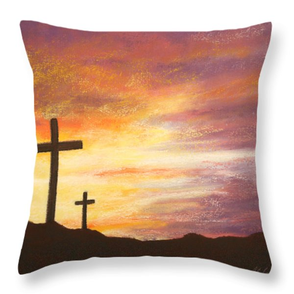He is Risen Throw Pillow by Marna Edwards Flavell