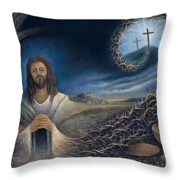 He Knew Yet He Went Through Throw Pillow by Ricardo Chavez-Mendez in Collaboration with Joyce Hodges