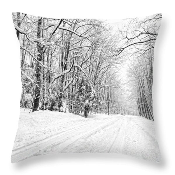 Heading For Davis West Virginia After Snow Storm Throw Pillow by Dan Friend