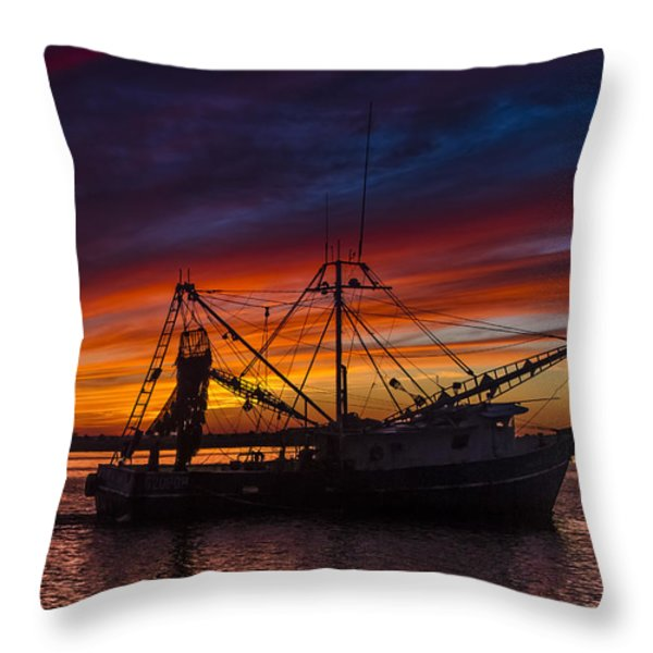 Heading Home Throw Pillow by Debra and Dave Vanderlaan