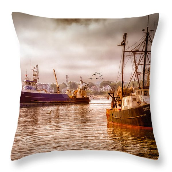 Heading Out Throw Pillow by Bob Orsillo