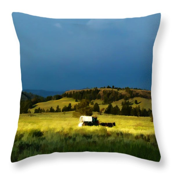 Heading West Throw Pillow by Edward Fielding