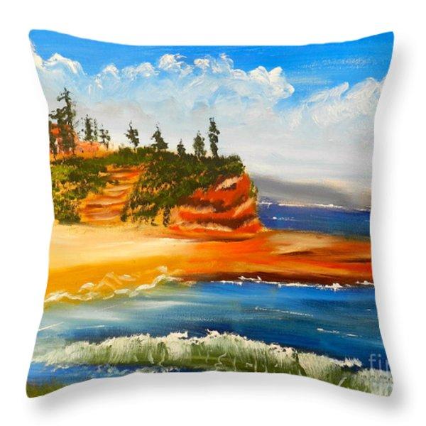 Headlands Throw Pillow by Pamela  Meredith