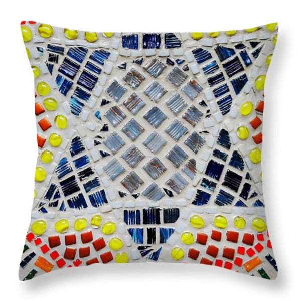 Healing star Throw Pillow by Lisa Brandel