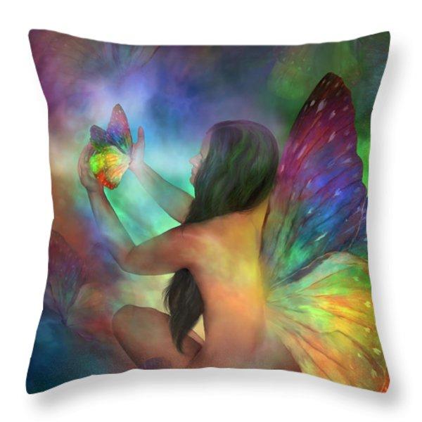 Healing Transformation Throw Pillow by Carol Cavalaris