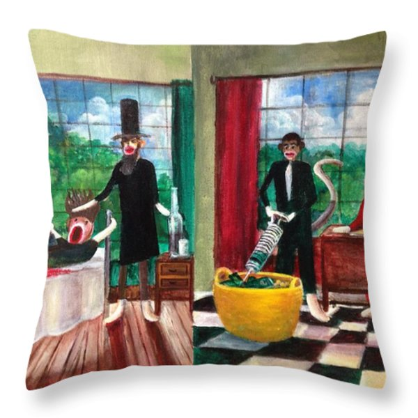 Healthcare Then and Now Throw Pillow by Randy Burns