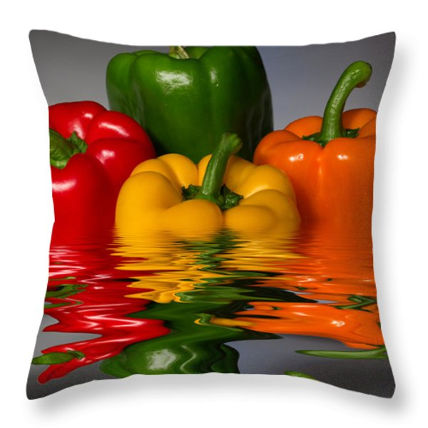 Healthy Reflections Throw Pillow by Shane Bechler