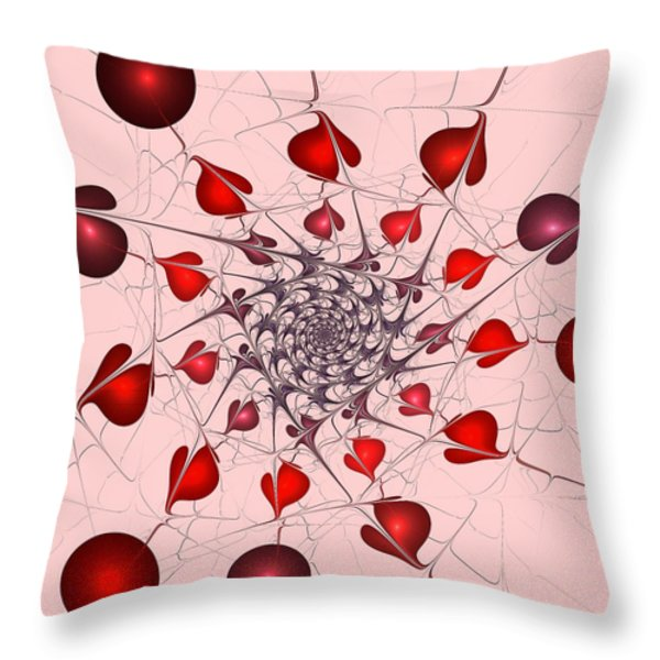 Heart Catcher Throw Pillow by Anastasiya Malakhova