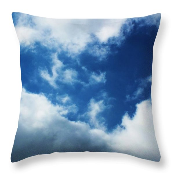 Heart in the Sky Throw Pillow by Anna Villarreal Garbis