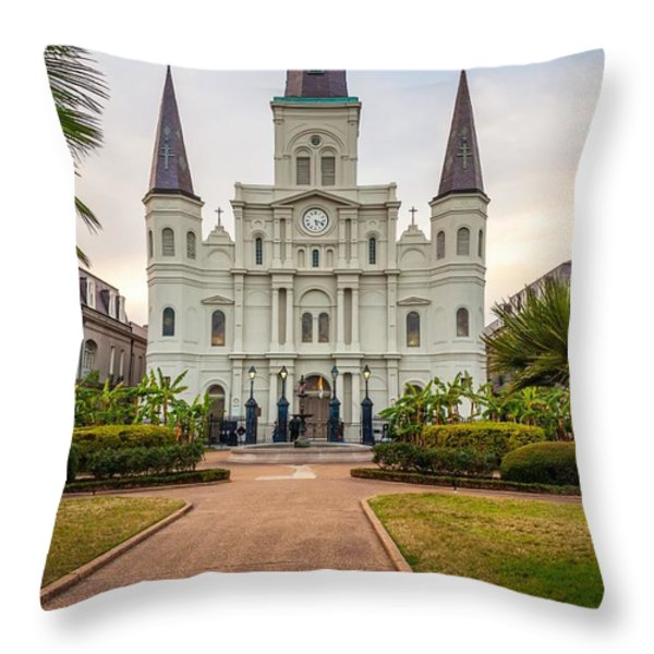 Heart Of The French Quarter Throw Pillow by Steve Harrington