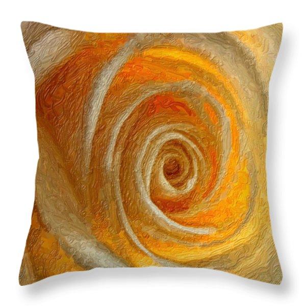 Heart of the Matter impasto Throw Pillow by Steve Harrington