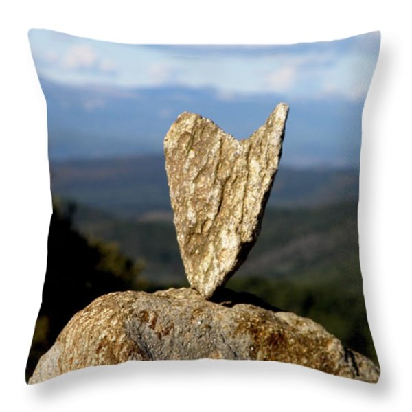 Heart On A Journey Throw Pillow by Lainie Wrightson