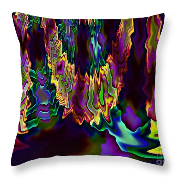 Heart Song Modern Abstract Art Throw Pillow by Annie Zeno