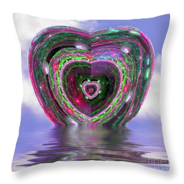 Heart Up Throw Pillow by Dee Flouton