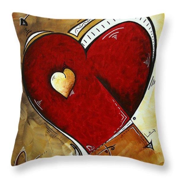 Heartbeat by MADART Throw Pillow by Megan Duncanson
