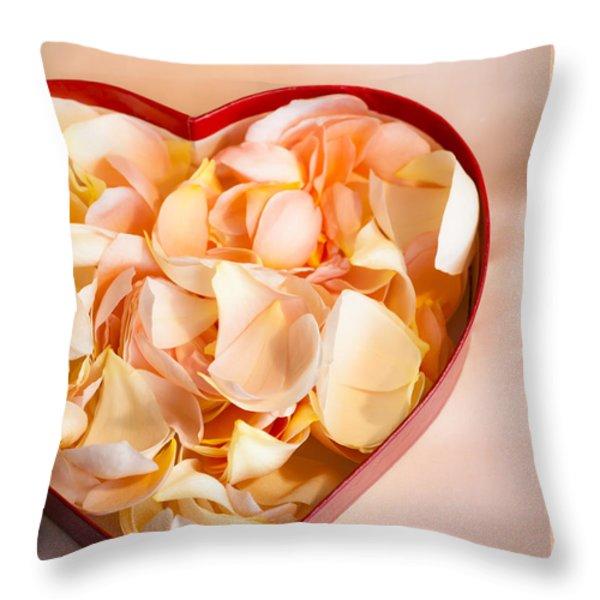 Heartfelt Throw Pillow by Jan Bickerton
