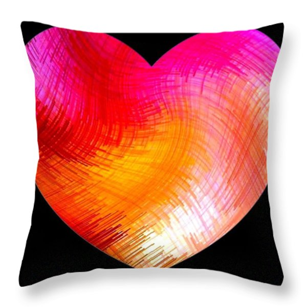 Heartline 6 Throw Pillow by Will Borden
