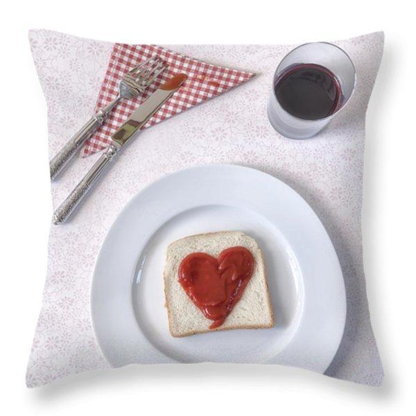 hearty toast Throw Pillow by Joana Kruse