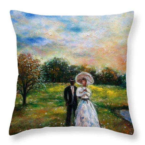 Heaven And Earth Throw Pillow by Emery Franklin
